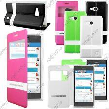 Accessoire Housse Coque Etui S-View Flip Cover Nokia Lumia 735 730 dual +Film