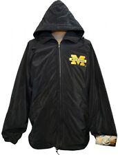 NEW Michigan Wolverines Embroidered Zip-up Jacket Windbreaker Rain Coat DEFECT