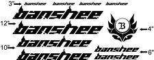 Custom Banshee Bike Frame Decal Set. Pick Your Color. USA Seller!