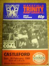 Wakefield Trinity v Castleford programme 26.2.89
