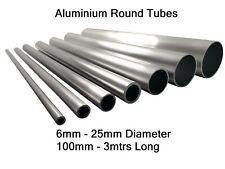 Aluminium Round Tube Pipe 6mm 8mm 10mm 12mm 16mm 20mm 22mm 25mm