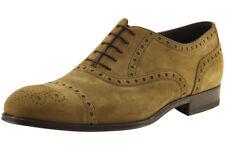 Hugo Boss Men's Caponio 50260413 Light/Pastel Brown Suede Fashion Oxford Shoes