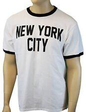 ScreenPrinted! New York City John Lennon Ringer T-shirt Official NYC Factory Tee