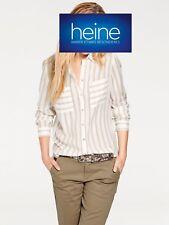 Rayures Chemisier Long-Chemisier b.c. Heine. Viscose, noyer/ECRU. Neuf!!!% Sale%