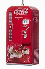 Vintage Coca Cola Vending Machine with Santa Christmas Tree Ornament Coke New