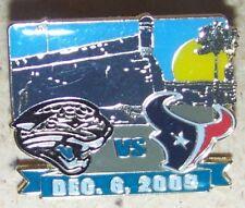Jacksonville Jaguars vs Houston Texans Dec. 6, 2009 lapel pin