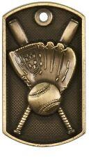 Baseball Dog Tag Award Trophy Team Sports W/Free Bead Chain Free Shipping Dt201