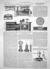Print 1864 Hall Machinery Polishing Glass Holmes Lamps Slide Valves 339J018