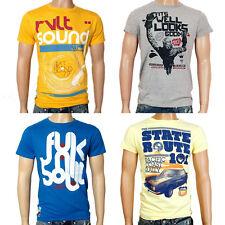 RVLT Revolution Herren T-Shirt Top-Seller Print Motiv T Shirts Spring Summer Neu