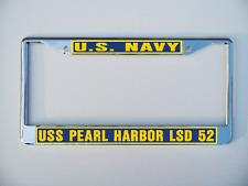 Uss Pearl Harbor Lsd 52 License Plate Frame U S Navy Usn Military
