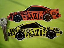 """PORSCHE 911 """"ASINO muniti di motore SLOT nazista"""" Auto Adesivi Auto"""