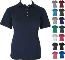 Women's Cotton Blend Polo Shirts Sizes 6 to 26 Premium Quality Casual Workwear