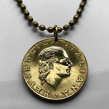 Italy 200 lire coin pendant Italian lady Venus Rome Florence Milan Capri n000221