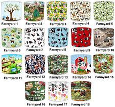 Lampshades Ideal To Match Children`s Farmyard Animals Duvets & Wallpaper Border.