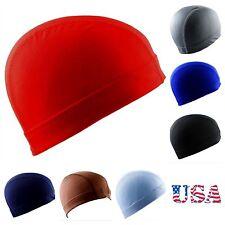 Dome Cap Spandex Helmet Liner Sports FootBall Biker Beanie Hat Headwrap Stretch