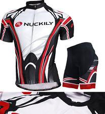 Mens Cycling Wear Short Sleeve Bicycle Shirt Jersey Gel Pad Shorts Set Outdoor