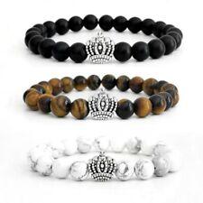 Partnerarmband ♛ SET King /& Queen  Armband Krone schwarz weiß Marmor gold Paare