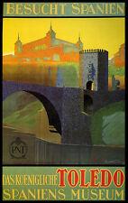 Toledo Spain Museum City Travel Spanish Tourism Vintage Poster Repro FREE S/H