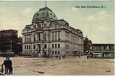 Antique POSTCARD c1913 City Hall PROVIDENCE, RI RHODE ISLAND