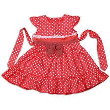 blanco y rosa de Topos Vestido niña de fiesta 12-18 18-24 2-3 3-4 AÑOS