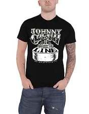 Johnny Cash T Shirt Walk The Line Nashville Guitar Logo new Official Mens Black