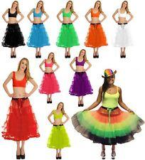 Ladies 5 Tier Petticoat With Ribbon Tutu Skirt Womens Party Wear Fancy Skirt