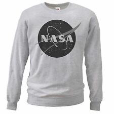 Gli adulti unisex grigio NASA SPAZIO PROGRAMMA Palestra Felpa SCIENZA FISICA Geek