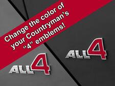 All 4 Emblem DECAL Inserts for MINI Cooper Countryman Clubman R60 R61 F60 F54