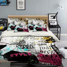 3D Graffiti Girl 577 Bed Pillowcases Quilt Duvet Cover Set Single Queen AU Carly