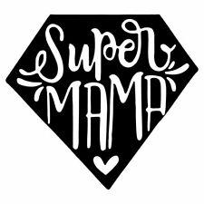 "5"" SUPER MAMA Vinyl Decal Sticker Car Window Laptop Mom Mum Mother Parent Family"