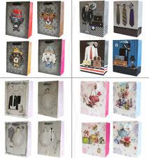 4 x Luxury 3D Gift Bags - Small / Medium Quality Retro Bags - Wedding, Dogs