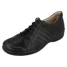 Ladies Della Black Leather Shoes by Sandpiper retail £29.99