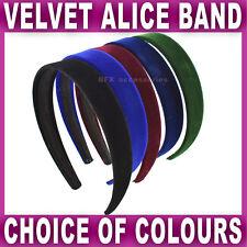 VELVET ALICE BAND 2.4cm wide headband head hair bands aliceband Womens Girls NEW