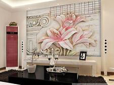 3D Lis Rose 646 Photo Papier Peint en Autocollant Murale Plafond Chambre Art