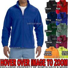 Big Mens TALL Polar Fleece Jacket Full Zip Pockets XLT, 2XLT, 3XLT NEW!