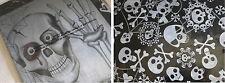 Plastic Tablecloth Skulls Skeleton 54 x 72 Party Halloween NEW Black White Scary