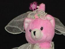 POSEABLE PINK WEDDING DRESS SPARKLE KITTY CAT BARBIE PLUSH STUFFED ANIMAL DOLL