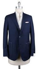 New $3900 Luigi Borrelli Navy Blue Wool Solid Sportcoat - (GUSB209371)