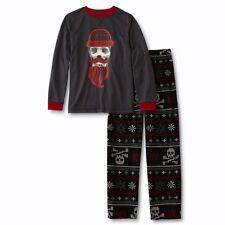Boys Pajamas 8,14/16 XL Skull Long Sleeve Shirt, Pixel Gamer Pants Fair Isle NWT