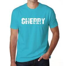 CHERRY Tshirt Col Rond Homme T-shirt, Homme tshirt, aqua blue, cadeau ideal