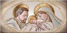 Quadro su tela Sacro Religioso Capezzale The Kiss Ceramic con Glitter | 3 misure