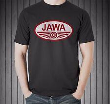Jawa Vintage Classic Czech Motorcycle Moped Retro Patch Black T-shirt Size S-5XL