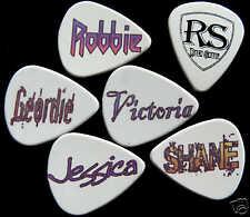12 X Nombre Personalizado selecciones personalizadas Plectros Guitarra Acústica Eléctrica