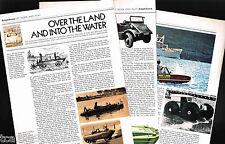 AMPHIBIAN / AMPHIBIOUS Cars Article / Photo's / Pictures: SCHWIMMWAGEN, Amphicar