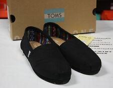 Toms Classics Black Black Women Slip-On Shoes 10002472 Sz 5-10 Fast Shipping