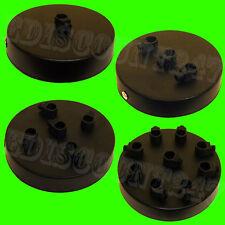 Singola & Multi Punto OUTLET (NERO) Ceiling ROSE 1-9 gocce Cord Grip UK Venditore