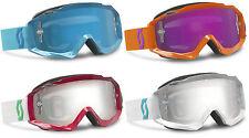 Scott Mx ajetreo Motocross gafas con lentes espejo Enduro Moto Mtb Tear Off Nueva