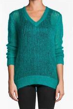 360 Vivica Sweater Jade mohair green v-neckline knitted vintage NEW Top Crochet