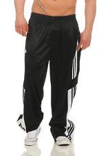 Adidas Caliente Chasquear Pantalones Hombre Tiempo libre Chándal Negro NUEVOS