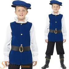 Tudor Boy Fancy Dress Costume Kids Medieval King Book Week Child Outfit